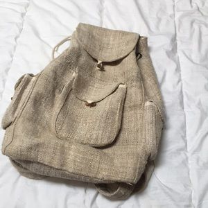 Organic hemp backpack/ rucksack
